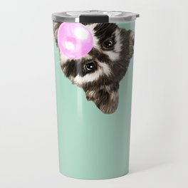 Bubble Gum Baby Raccoon Travel Mug