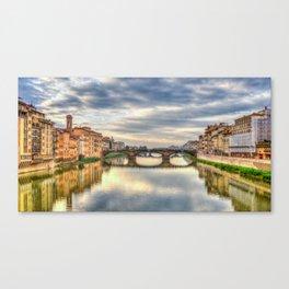 Arno River and Ponte Vecchio, Florence Canvas Print
