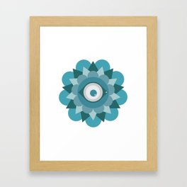 Mirada Colorida Framed Art Print