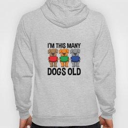 I'm This Many Dogs Old 3 Yr Boy Girl Birthday Idea Hoody