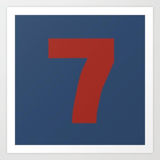 Number 7 Art Print