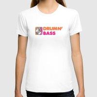 bass T-shirts featuring Drumn' Bass  by Jonah Makes Artstuff