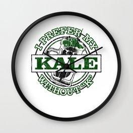 I prefer Kale with a Silent K Kale Art for Vegans Light Wall Clock