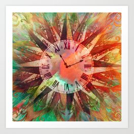 Synchronicity 11:11 Clock Face Time Design Art Print