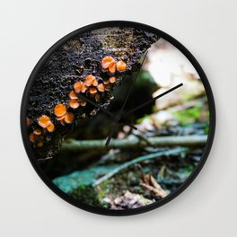 Log and Lichen Wall Clock