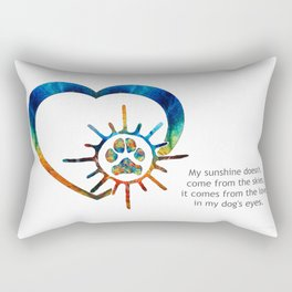 Colorful Dog Paw Art - Dog Lover - Sharon Cummings Rectangular Pillow