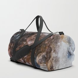 Tiny geode crystal cave Duffle Bag