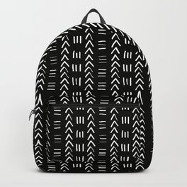 Mudcloth No.2 in Black + White Backpack