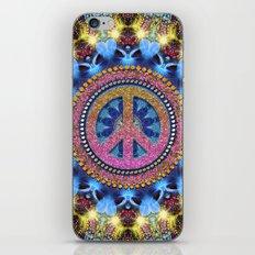 Groovy Hippie Love Mandala iPhone Skin