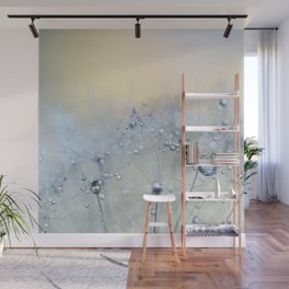 ice blue dandelion Wall Mural