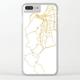 CAPE TOWN SOUTH AFRICA CITY STREET MAP ART Clear iPhone Case