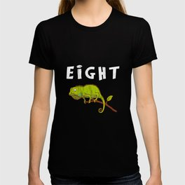 Kids 8 Year Old Lizard Reptile Birthday Party 8th Birthday T-shirt