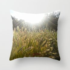 Wheat and poppies Throw Pillow