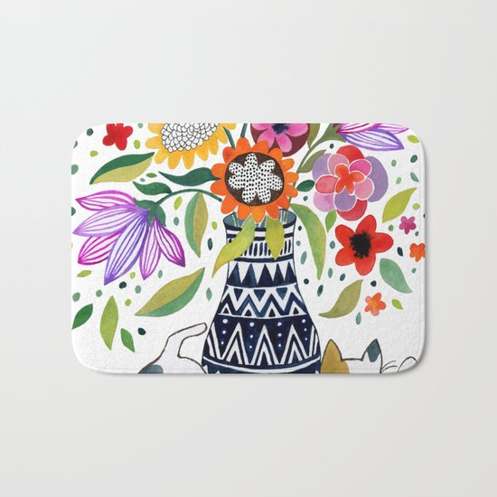 Calico Bouquet Bath Mat