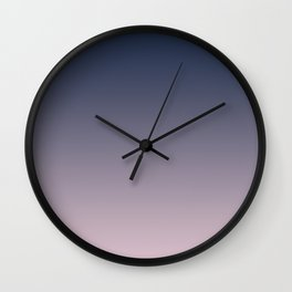 Blue and pink gradient. Ombre. Wall Clock