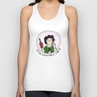 grantaire Tank Tops featuring Too Grantaire 2 Care by AlyBee
