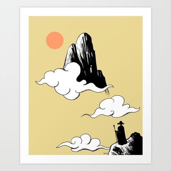 New Rising Sun  Art Print