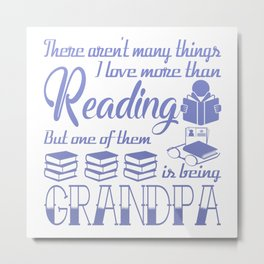 Reading Grandpa Metal Print