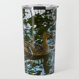 Little Quackers: Mother and Ducklings (Chicago North Pond Collection) Travel Mug