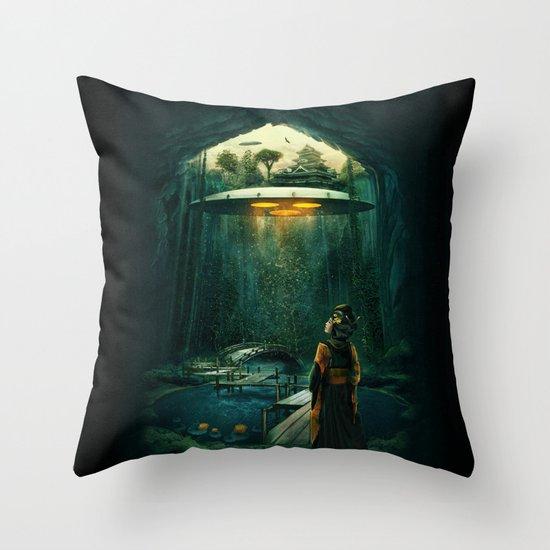 green layer Throw Pillow