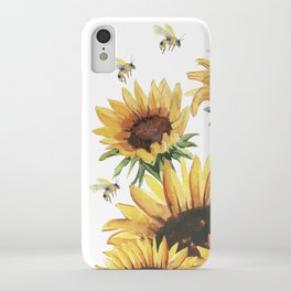 Sunflowers and Honey Bees iPhone Case