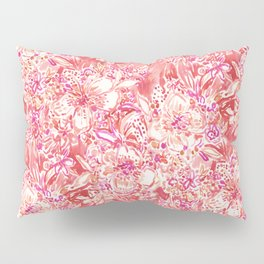 HAWAIIAN PUNCH Red Wild Hibiscus Floral Pillow Sham