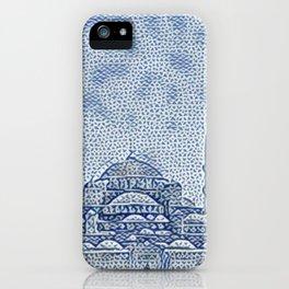 Turkey Hagia Sophia Artistic Illustration Raw Cloth Style iPhone Case