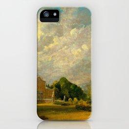 "John Constable ""Malvern Hall, Warwickshire"" iPhone Case"
