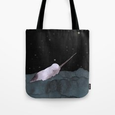 Narwhal's made all those shiny little holes in the night sky Tote Bag