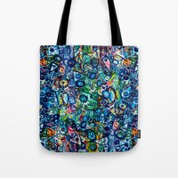 underwater Tote Bags featuring Underwater by Lily Mandaliou