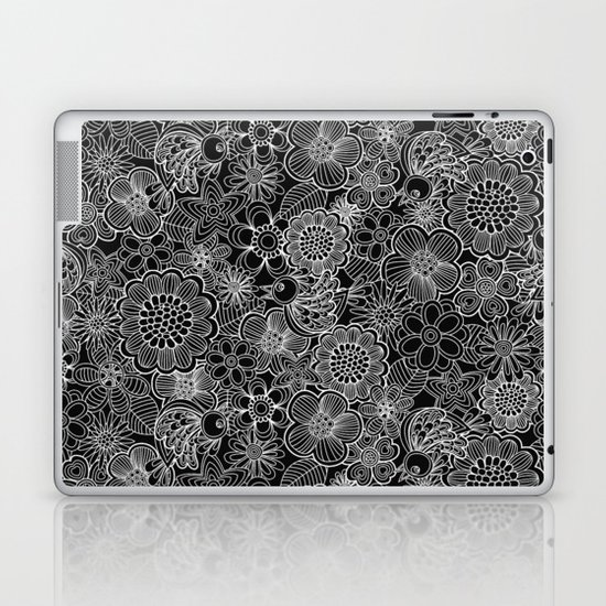 """""""Welcome birds..""""in black and white. Laptop & iPad Skin"""