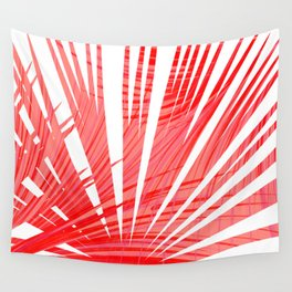 Tropical Flashy Fan Palm Leaves Abstract Design Wall Tapestry