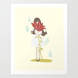 lily girl Art Print
