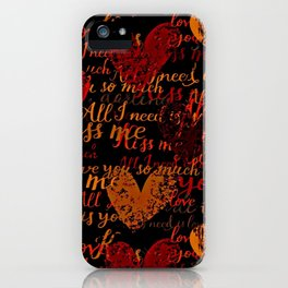 Kiss Me, Miss Me Red iPhone Case