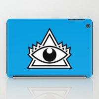 third eye iPad Cases featuring Third Eye by Diogo Rueda