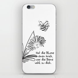 Blume und Biene iPhone Skin