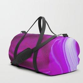 Pink agate Geode Duffle Bag