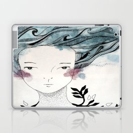 One With the Sea // ink //watercolor   Laptop & iPad Skin
