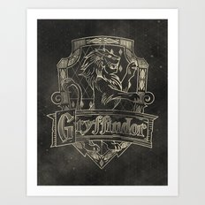 Gryffindor House Art Print