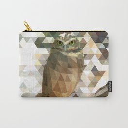 Burrowing Owl - Low Poly Technique Carry-All Pouch