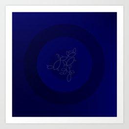 Blue Ornament Cricle Art Print