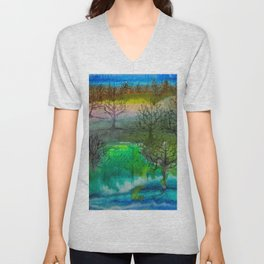 A Walk with Trees Unisex V-Neck