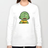 charlie brown Long Sleeve T-shirts featuring Zombie Charlie Brown by rkbr