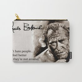 BUKOWSKI - people QUOTE #2 - sepia Carry-All Pouch