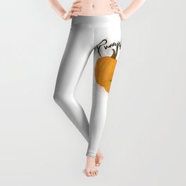 Pumpkin Spice Digital Watercolor Leggings