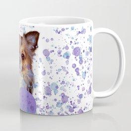 Watercolor Ultra Violet Splattering Dog Lovers Coffee Mug