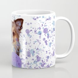 Watercolor Ultra Violet Splattering Dog Lovers Coffee Mug