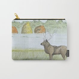 Stag in the Misty Morning Carry-All Pouch