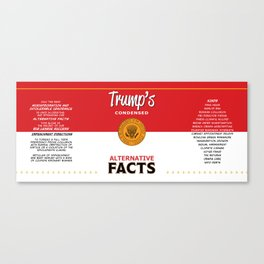 Trump's Alternative Facts Soup Canvas Print