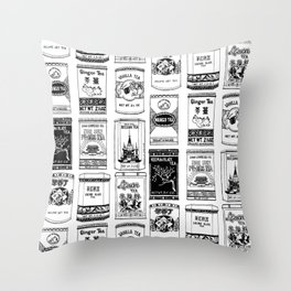 chinese teabox collection Throw Pillow